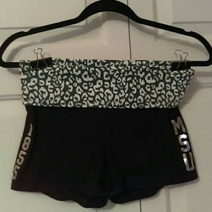 Pink Victoria's Secret yoga shorts black size smal